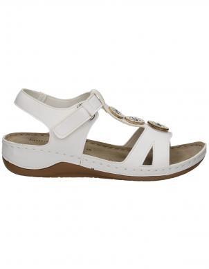 LAURA BERG sieviešu baltas sandales
