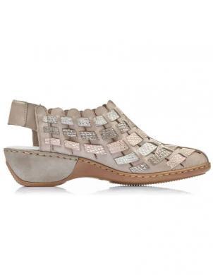 RIEKER sieviešu smilšu krāsas ar aizdari sandales