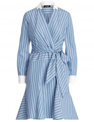LAUREN RALPH LAUREN zila svītraina kleita