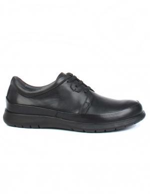 SALAMANDER vīriešu melni klasiski apavi PALO