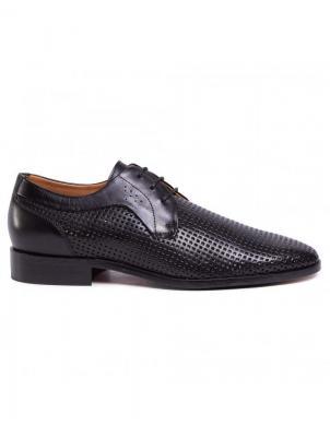 SALAMANDER vīriešu melni klasiski apavi STEEN