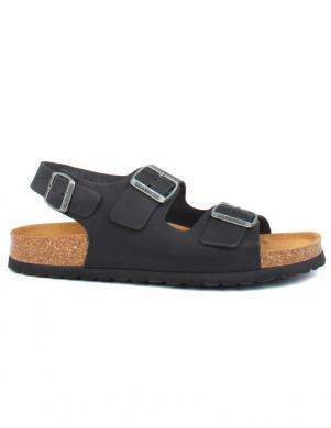 SALAMANDER vīriešu melnas sandales BALBAO