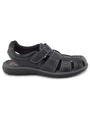 SALAMANDER vīriešu melnas sandales LOGATO