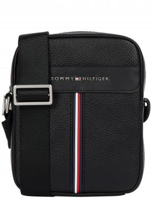 TOMMY HILFIGER vīriešu melna soma pār plecu TH DOWNTOWN MINI REPORTER