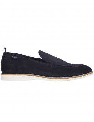 TOMMY HILFIGER vīriešu tumši zili klasiski apavi CASUAL SPRING SUEDE LOAFER