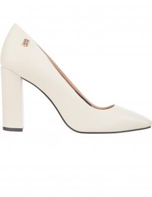 TOMMY HILFIGER sieviešu krēmīgas krāsas augstpapēžu apavi SQUARE TOE PUMP