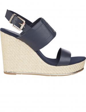 TOMMY HILFIGER sieviešu zilas sandales TH ELASTIC HIGH WEDGE SANDAL