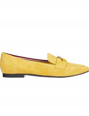 TOMMY HILFIGER sieviešu dzelteni apavi ESSENTIAL HARDWARE LOAFER