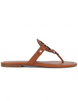 TORY BURCH sieviešu brūnas čības - sandales pār pirkstu MILLER