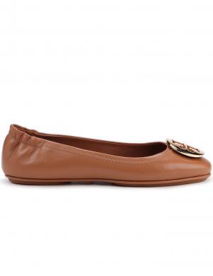 TORY BURCH sieviešu brūni balerīnas apavi MINNIE TRAVEL