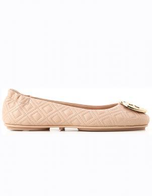 TORY BURCH sieviešu krēmīgas krāsas balerīnas apavi QUILTED MINNIE