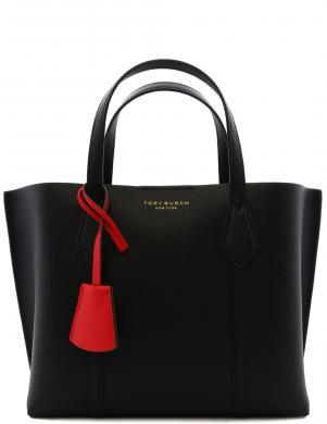TORY BURCH sieviešu melna ādas soma ar piestiprinātu garu lenci PERRY
