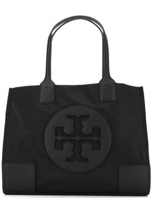 TORY BURCH sieviešu melna soma ar logotipu ELLA