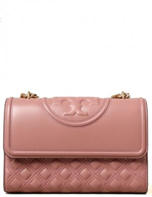 TORY BURCH sieviešu rozā ādas soma pār plecu