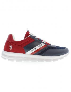 U.S. POLO ASSN. vīriešu tumši zili - sarkani ikdienas apavi GARY