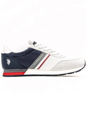 U.S. POLO ASSN. vīriešu balti ikdienas apavi WILY