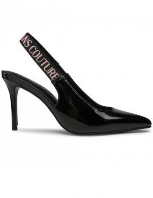 VERSACE JEANS COUTURE sieviešu melni augstpapēžu slēgtas sandales LINEA FONDO CHLOE DIS. S52