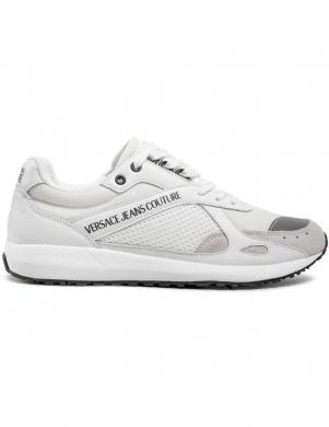 VERSACE JEANS COUTURE vīriešu balti ikdienas apavi LINEA FONDO RUNLIGHT DIS. SR4