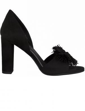 MARCO TOZZI sieviešu melnas augstpapēžu sandales ar bārkstīm
