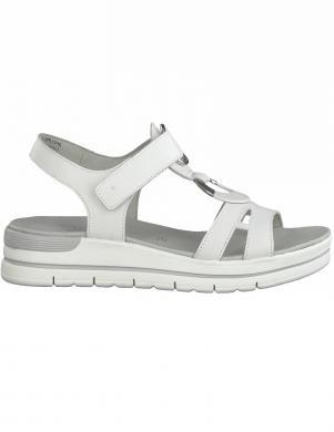 MARCO TOZZI sieviešu baltas ādas sandales