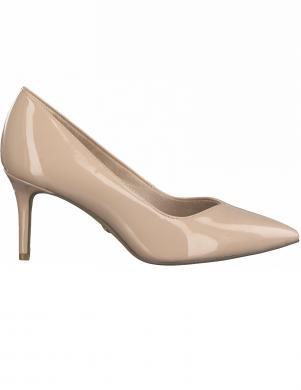 TAMARIS sieviešu krēmīgas krāsas lakoti apavi