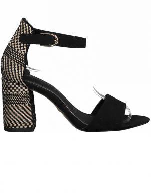 TAMARIS sieviešu melnas augstpapēžu sandales