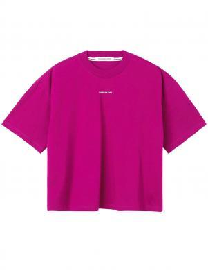 CALVIN KLEIN JEANS sieviešu rozā krāsas kokvilnas krekls