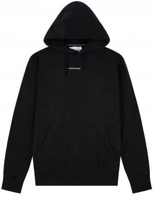 CALVIN KLEIN JEANS vīriešu melns džemperis ar kapuci