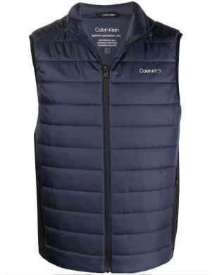 CALVIN KLEIN vīriešu tumši zila polsterēta veste