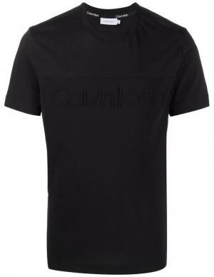 CALVIN KLEIN vīriešu melns kokvilnas krekls