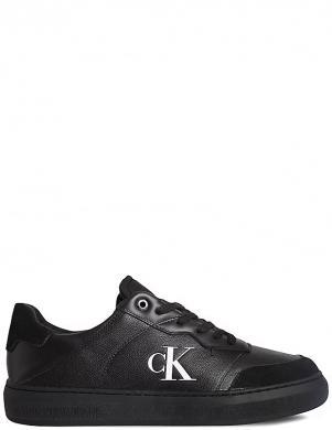 CALVIN KLEIN vīriešu melni ādas ikdienas apavi