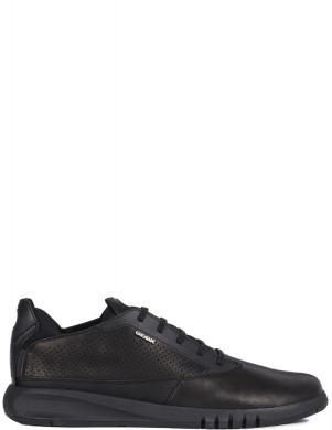 GEOX vīriešu melni ādas ikdienas apavi - zābaki AERANTIS