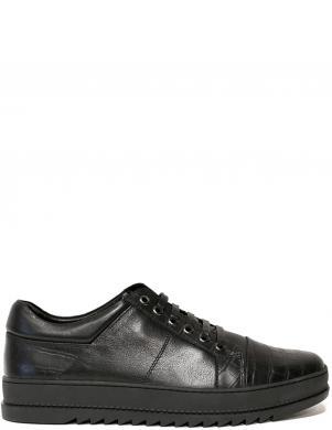 LA CONTE vīriešu melni ādas apavi
