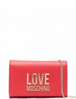 LOVE MOSCHINO sieviešu sarkana soma pār plecu