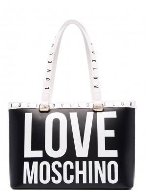 LOVE MOSCHINO sieviešu melna soma