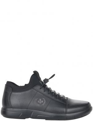 RIEKER vīriešu melni ādas ikdienas apavi-zābaki