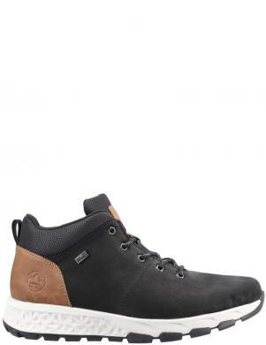 RIEKER vīriešu melni zamšādas ikdienas apavi