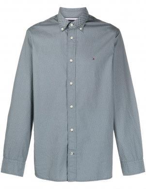 TOMMY HILFIGER vīriešu zils rakstains krekls
