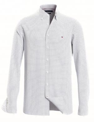 TOMMY HILFIGER vīriešu balts rakstains krekls
