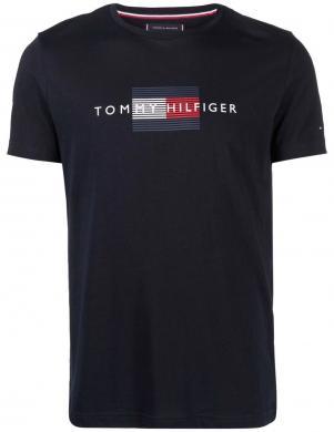 TOMMY HILFIGER vīriešu tumši zils kokvilnas krekls