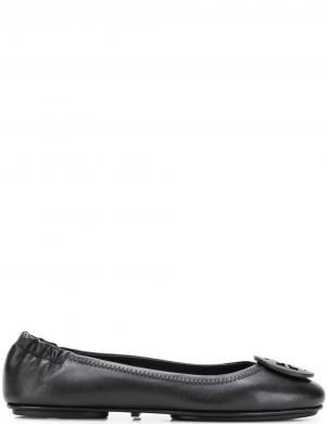 TORY BURCH sieviešu melni ādas balerīnas apavi MINNIE TRAVEL BALLET
