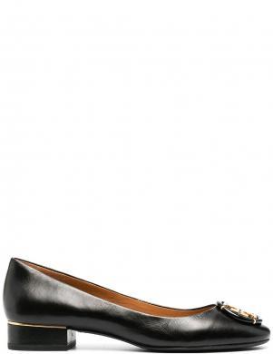 TORY BURCH sieviešu melni ādas klasiski apavi MULTI LOGO BLOCK HEE