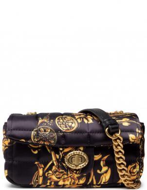 VERSACE JEANS CUTURE sieviešu melna rakstaina soma pār plecu RANGE B - PUFFY BAG