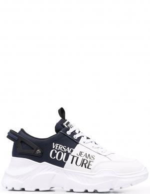 VERSACE JEANS COUTURE vīriešu balti zili ādas ikdienas apavi FONDO SPEEDTRACK DI