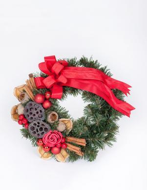PINUS dekoratīvs egļu zaru vainags, 25 cm