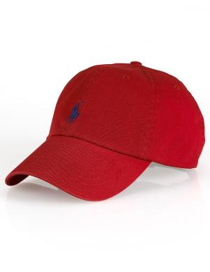 POLO RALPH LAUREN sarkana vīriešu cepure