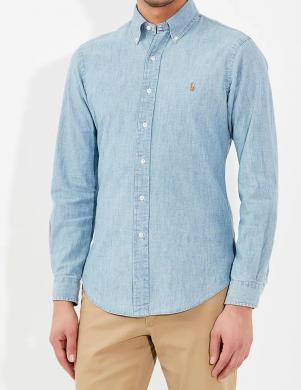 POLO RALPH LAUREN gaiši zils vīriešu krekls