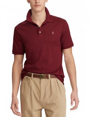POLO RALPH LAUREN tumši sarkans vīriešu krekls