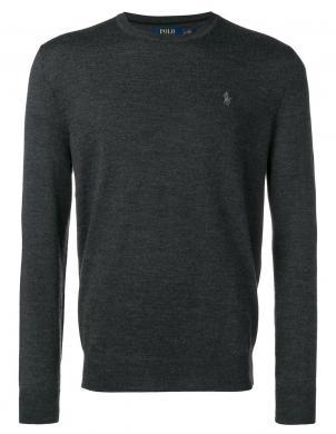 POLO RALPH LAUREN pelēks vīriešu vilnas džemperis