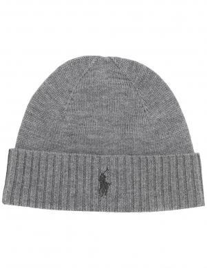 POLO RALPH LAUREN pelēka vīriešu vilnas cepure